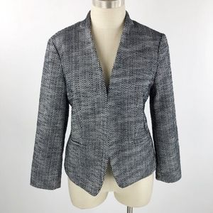 Ann Taylor LOFT Women's Tweed Black White  Blazer